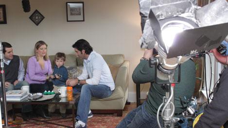 HGTV's Carter Oosterhouse filming in Charlotte