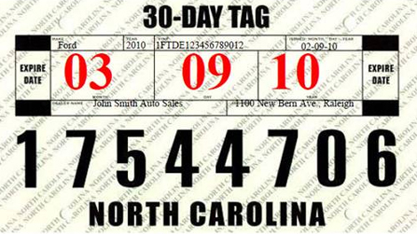 car dealers to receive new temporary license plates. Black Bedroom Furniture Sets. Home Design Ideas