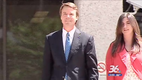 John Edwards outside the federal courthouse in Winston-Salem. (June 3, 2011)