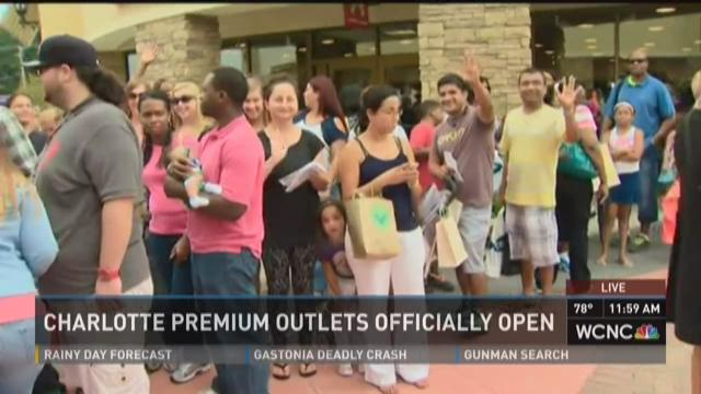 Charlotte Premium Outlets open today