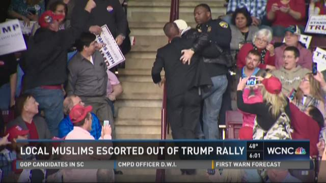 Local Muslims escorted out of Trump rally