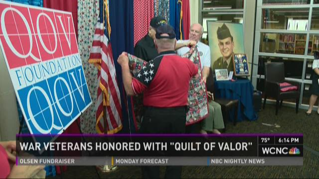 War veterans honored with 'Quilt of Valor'