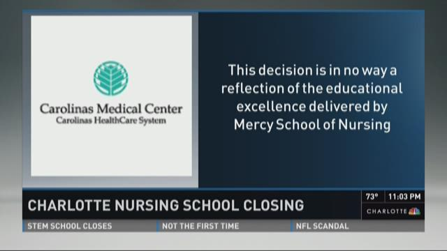 Financial restructuring is impacting a long-standing Charlotte nursing school. Mercy School of Nursing dates back to 1906, but this week Carolina Healthcare System informed students the school will close down after the freshman class graduates.
