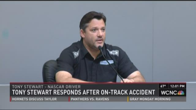 Tony Stewart responds after on-track accident