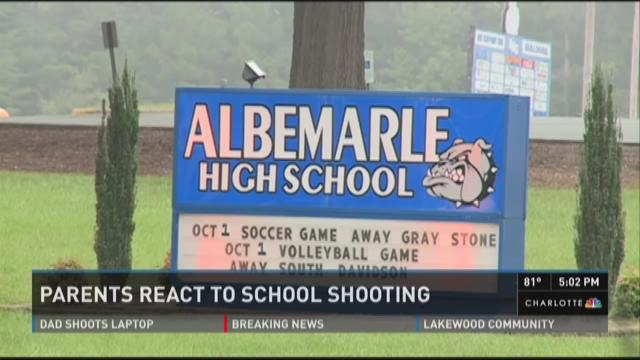 Students, parents react to Albemarle High shooting