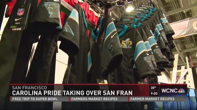 Panthers Super Bowl jerseys hot commodity in San Francisco