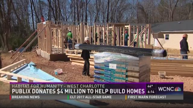 Publix teamed up with Habitat for Humanity to build homes in the Charlotte community.