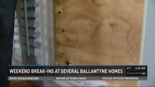 Weekend break-ins at several Ballantyne homes