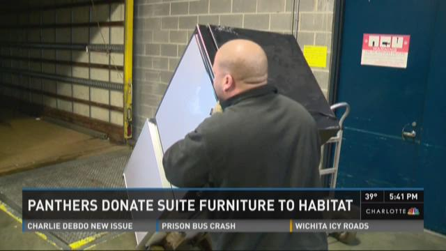 Panthers donate suite furniture to Habitat for Humanity