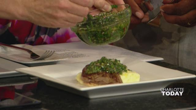 Watch: Seared Filet with Chimichurri Sauce