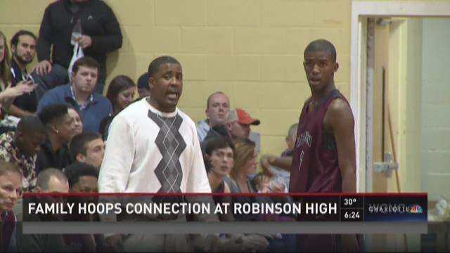 Family hoops connection at Robinson High