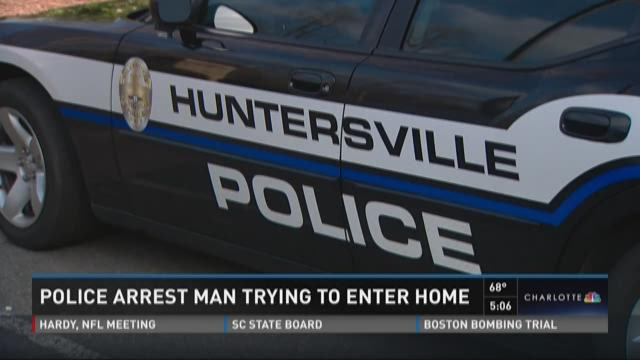 Police arrest man trying to enter home