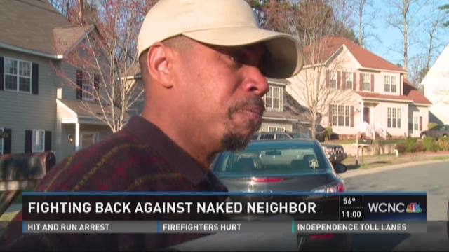 Naked neighbor speaks with NBC Charlotte about accusations
