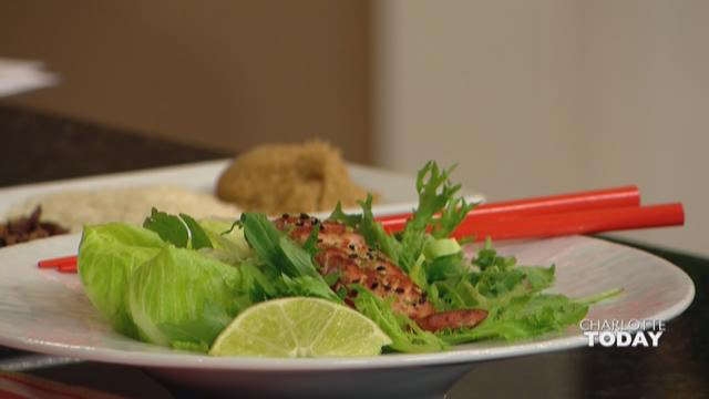 Tea Smoked Miso Salmon Salad