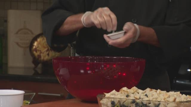 Blueberry-Rosemary Breakfast Pudding
