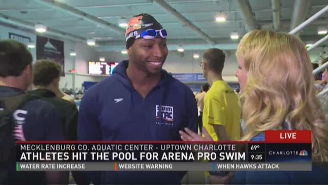 Athletes hit the pool for Arena Pro Swim
