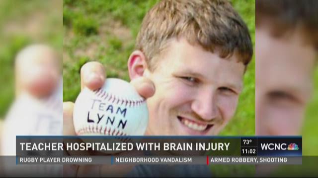 Teacher hospitalized with brain injury