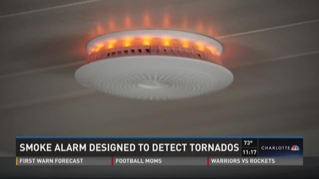 Smoke alarm designed to detect tornados