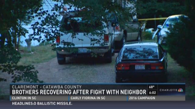 Brothers recovering after fight with neighbor