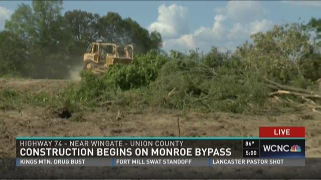 Construction on Monroe Bypass starts