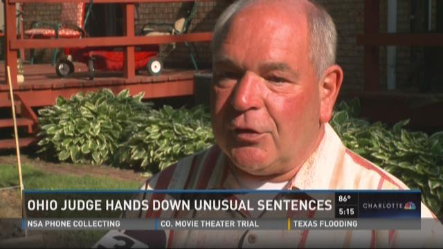 Ohio judge hands out unusual sentences