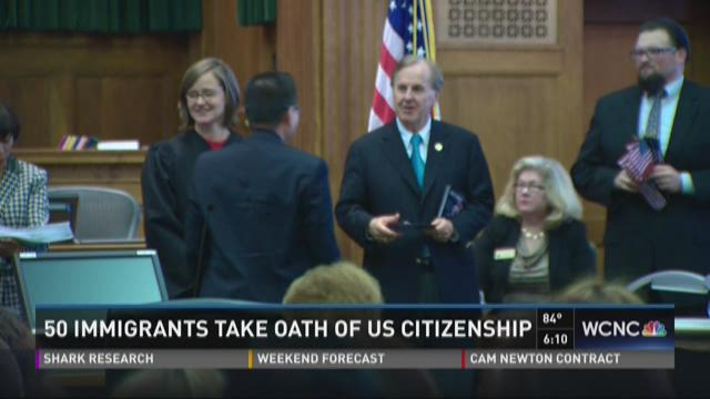 Immigrants take oath of U.S. Citizenship in Charlotte