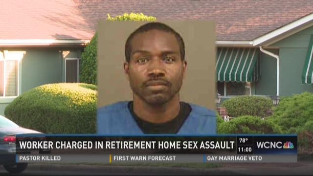 Worker charged in retirement home sex assault