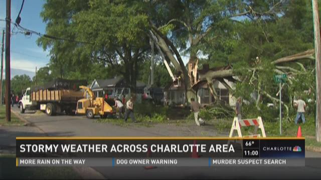 Stormy weather across Charlotte area