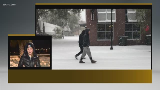 Charleston residents hunker down, enjoy 'wonder' of historic snowstorm