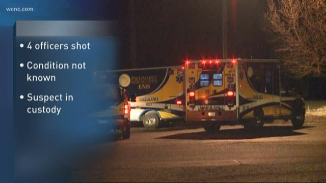 Suspect shoots 4 officers in SC, 1 critically hurt