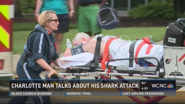 Charlotte man talks about his shark attack