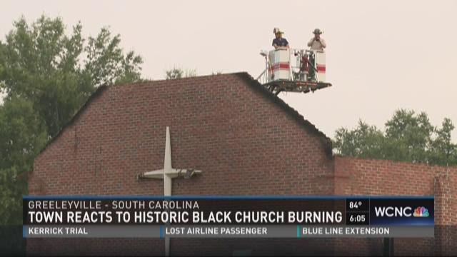 Town reacts to historic black church burning