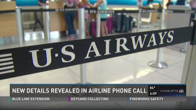 New details revealed in airline phone call