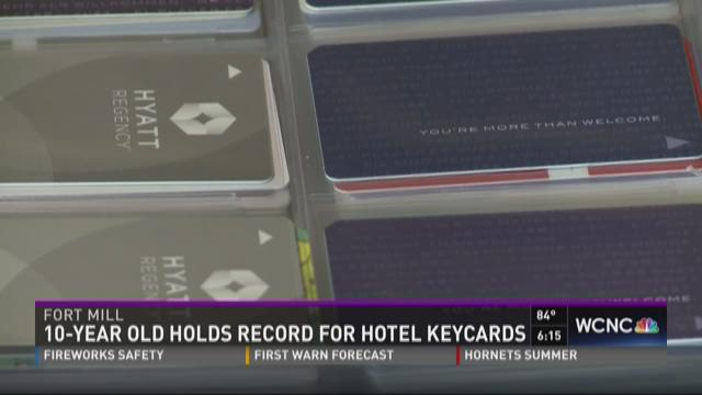 10-Year-old holds record for hotel keycards