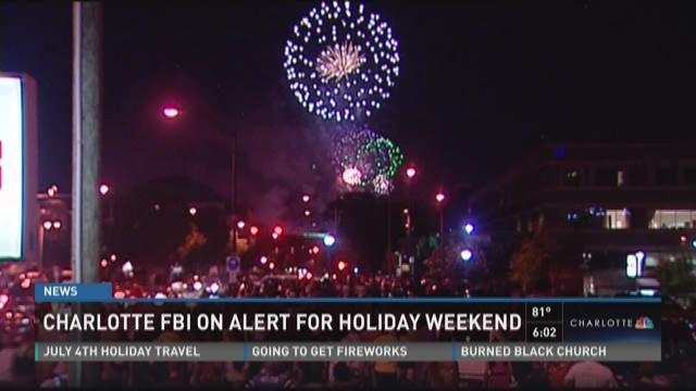 Charlotte FBI on alert for holiday weekend