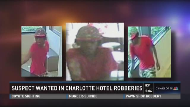Suspect wanted in Charlotte hotel robberies