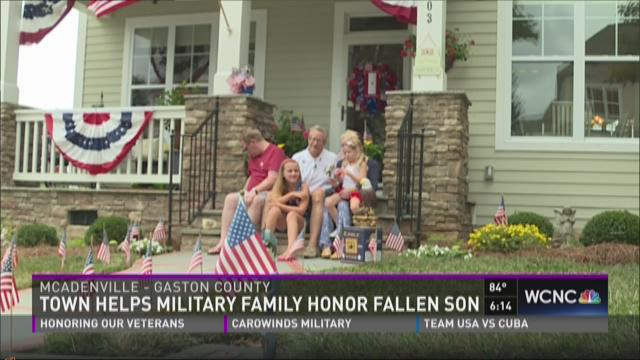 Town helps military family honor fallen son