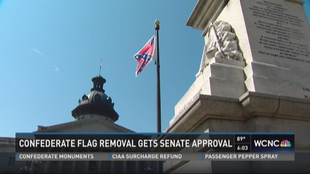 SC Senate approves removal of Confederate flag