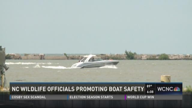 NC Wildlife officials promoting boat safety