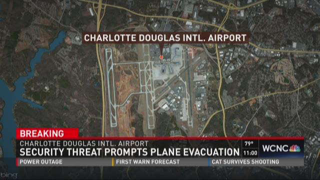 Security threat prompts plane evacuation