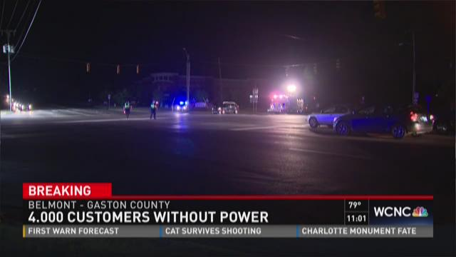 4000 customers without power in Gaston County