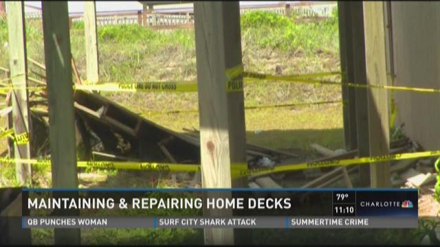 Maintaining and repairing home decks