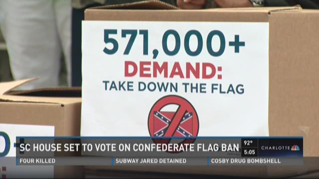 SC House set to vote on Confederate Flag ban