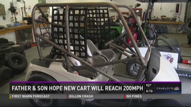 Father and son hope new golf car will reach 200mph