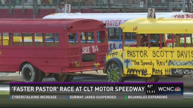 'Faster Pastor' race at Charlotte Motor Speedway