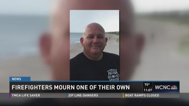 Firefighters mourn one of their own