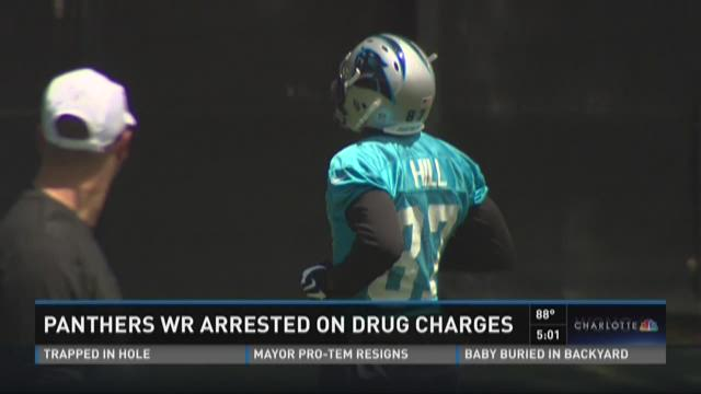 Panthers WR arrested on drug charges