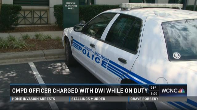 CMPD officer charged with DWI while on duty