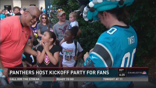 Panthers host kickoff party for fans