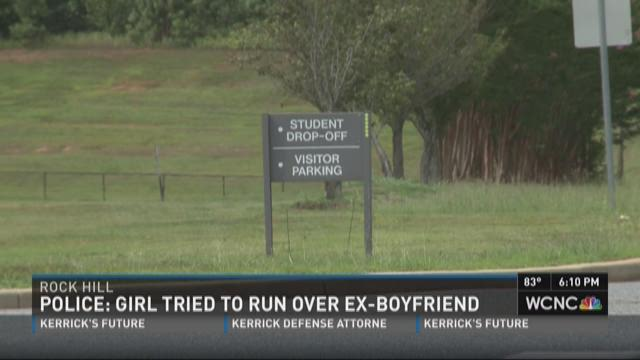 Police: Girl tried to run over ex-boyfriend